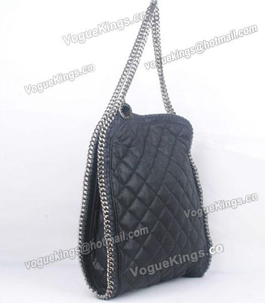 Stella McCartney Falabella S-811-1 PVC Black Quilted Hobo Bag_1