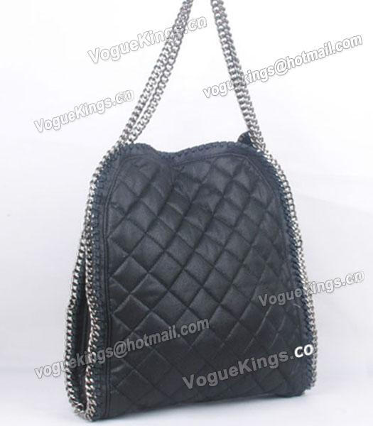 Stella McCartney Falabella S-811-1 PVC Black Quilted Hobo Bag_2