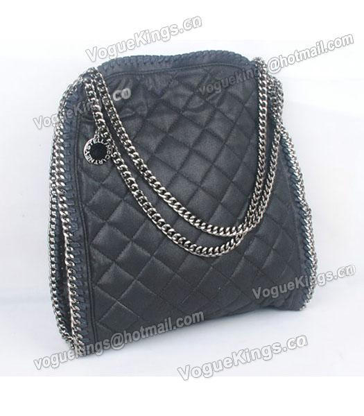 Stella McCartney Falabella S-811-1 PVC Black Quilted Hobo Bag_3
