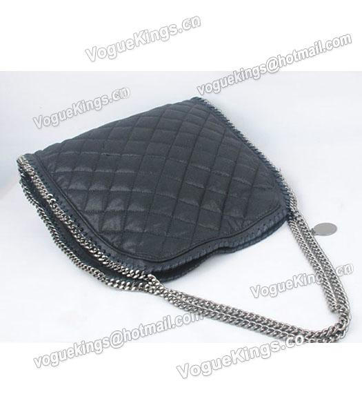 Stella McCartney Falabella S-811-1 PVC Black Quilted Hobo Bag_4