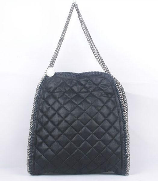 Stella McCartney Falabella S-811-1 PVC Black Quilted Hobo Bag