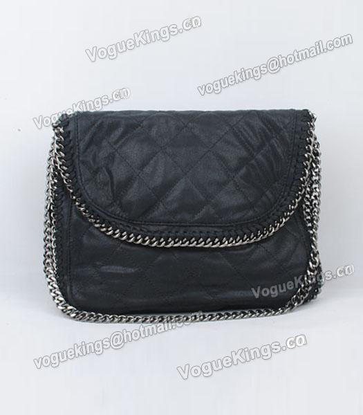 Stella McCartney Falabella 808 PVC Black Small Quilted Shoulder Bag-1