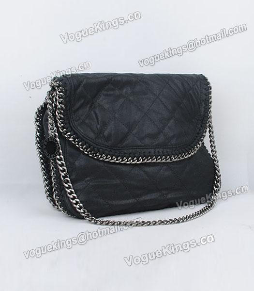 Stella McCartney Falabella 808 PVC Black Small Quilted Shoulder Bag-2