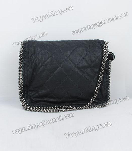 Stella McCartney Falabella 808 PVC Black Small Quilted Shoulder Bag-3