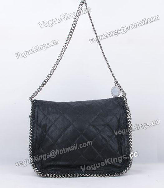 Stella McCartney Falabella 808 PVC Black Small Quilted Shoulder Bag-4