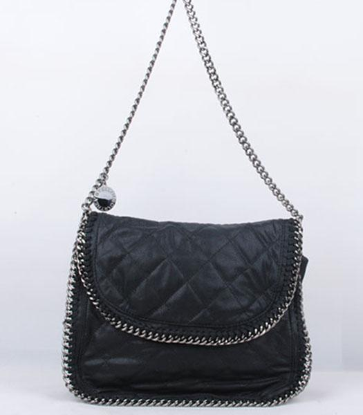 Stella McCartney Falabella 808 PVC Black Small Quilted Shoulder Bag