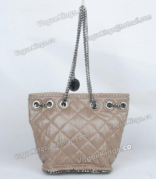 Stella McCartney Falabella 815 PVC Khaki Small Bucket Bag-2