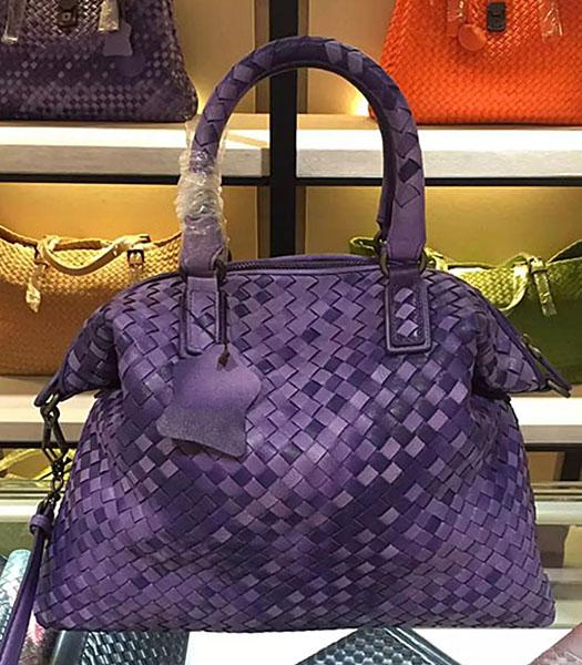 Bottega Veneta Lambskin Weaving Large Tote Bag Color Purple