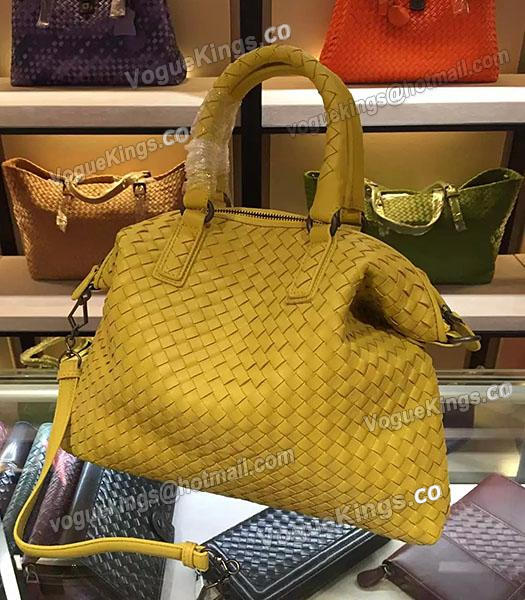 Bottega Veneta Lambskin Weaving Large Tote Bag Yellow-2