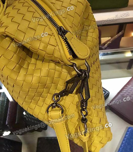 Bottega Veneta Lambskin Weaving Large Tote Bag Yellow-3