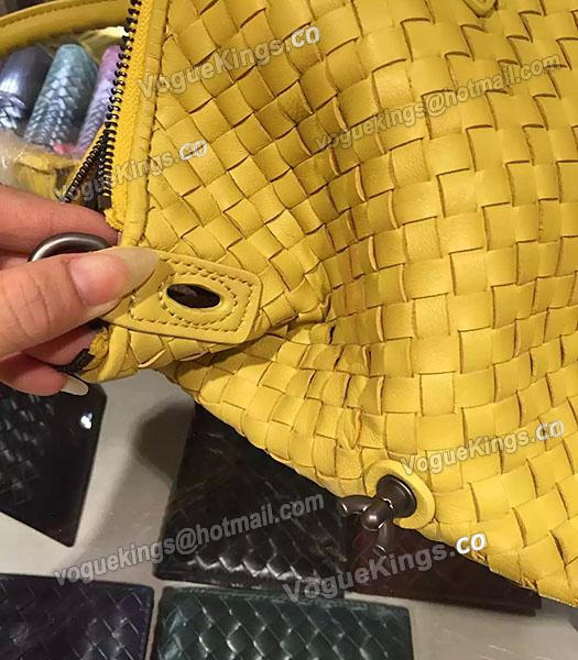 Bottega Veneta Lambskin Weaving Large Tote Bag Yellow-5