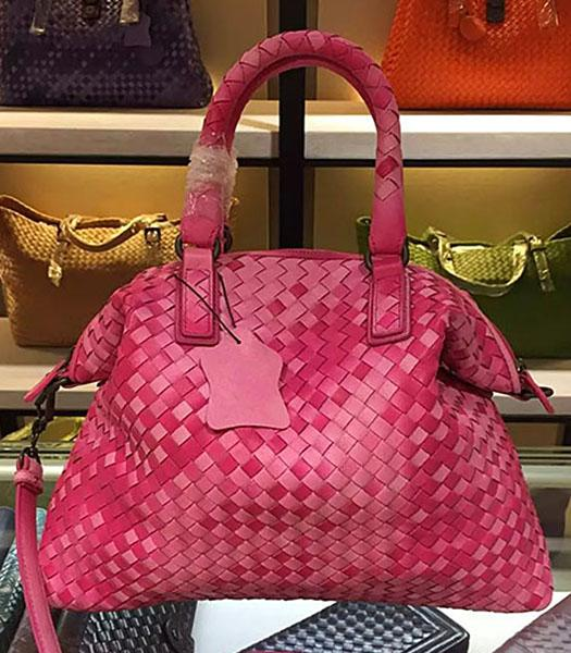 Bottega Veneta Lambskin Weaving Large Tote Bag Color Peach Red