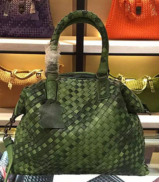 Bottega Veneta Lambskin Weaving Large Tote Bag Color Army Green