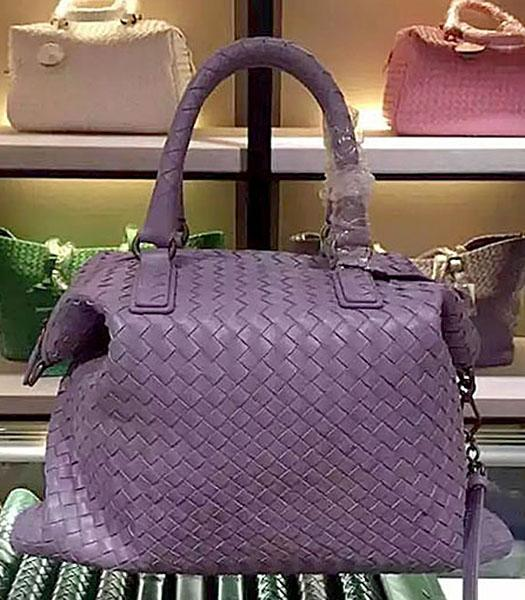 Bottega Veneta Lambskin Weaving Large Tote Bag Light Purple