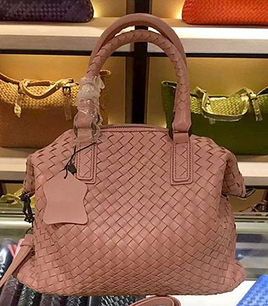 Bottega Veneta Lambskin Weaving Large Tote Bag Pink