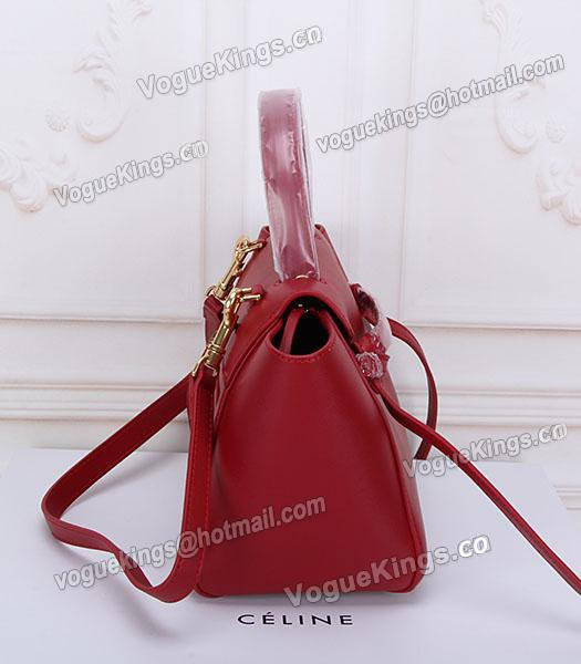 Celine Belt Red Leather Small Tote Bag-2
