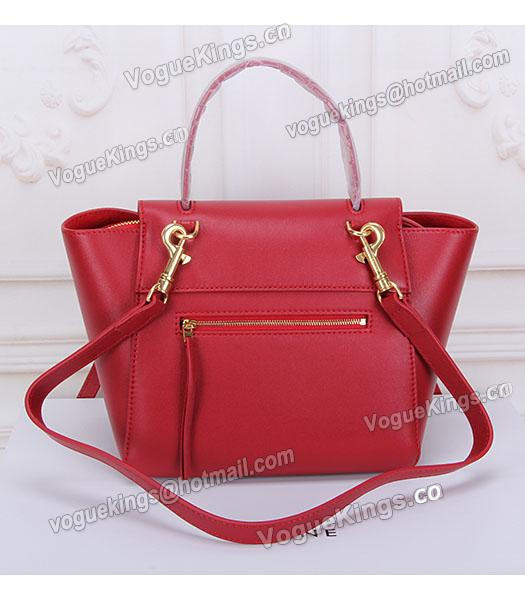 Celine Belt Red Leather Small Tote Bag-3