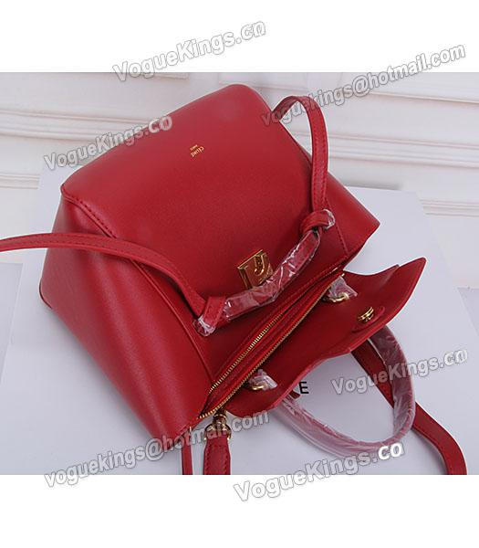 Celine Belt Red Leather Small Tote Bag-5