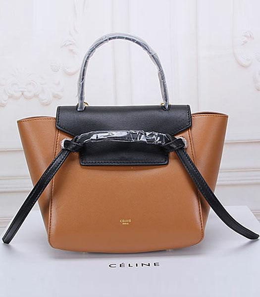 Celine Belt Coffee Leather Small Tote Bag