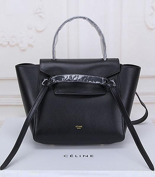 Celine Belt Black Leather Small Tote Bag