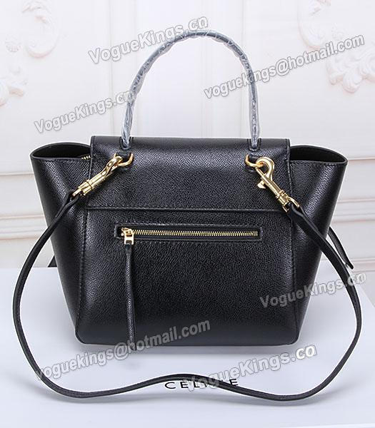 Celine Belt Black Leather Small Palmprint Tote Bag_3