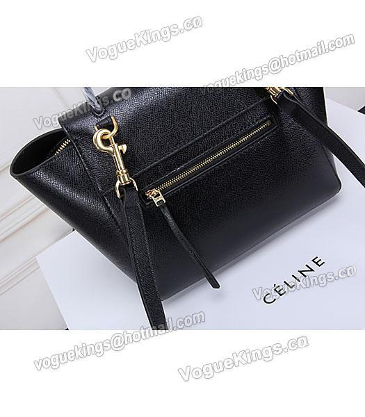 Celine Belt Black Leather Small Palmprint Tote Bag_4