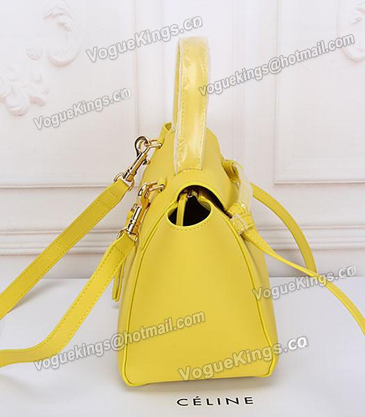 Celine Belt Yellow Leather Small Tote Bag-2