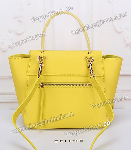 Celine Belt Yellow Leather Small Tote Bag-3