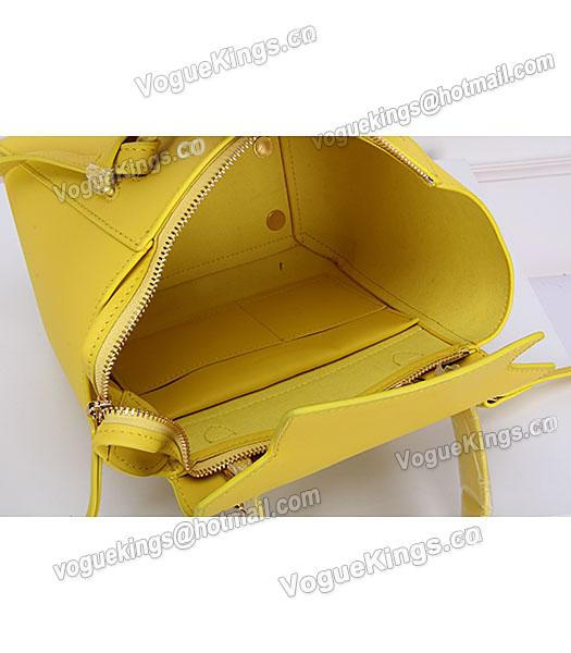 Celine Belt Yellow Leather Small Tote Bag-4