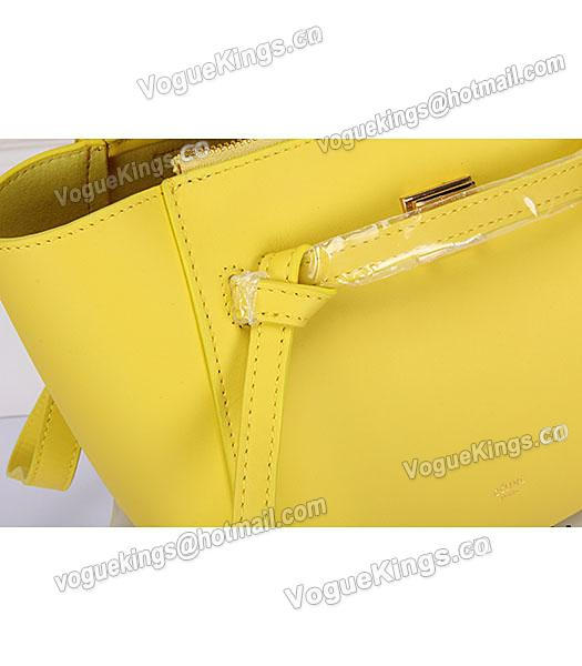 Celine Belt Yellow Leather Small Tote Bag-5