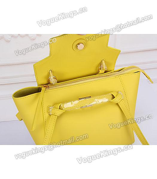 Celine Belt Yellow Leather Small Tote Bag-6