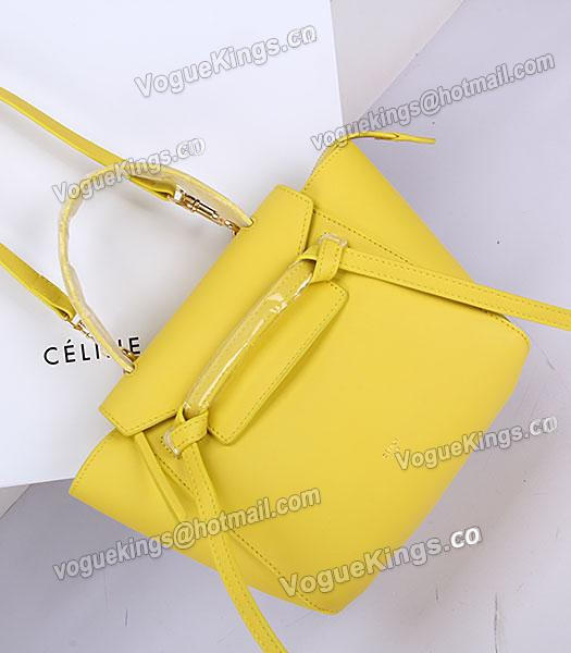 Celine Belt Yellow Leather Small Tote Bag-7