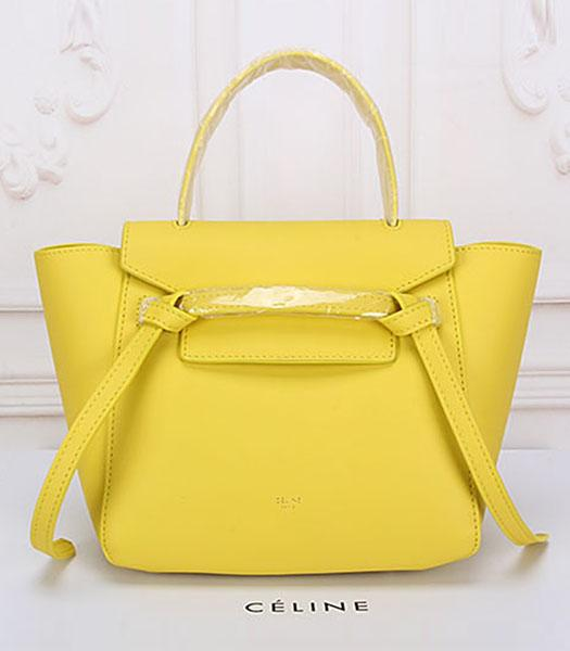 Celine Belt Yellow Leather Small Tote Bag