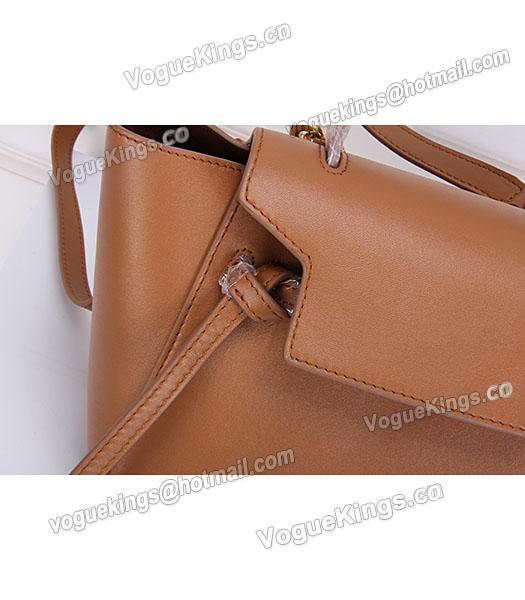 Celine Belt Small Tote Bag Light Coffee Leather-5