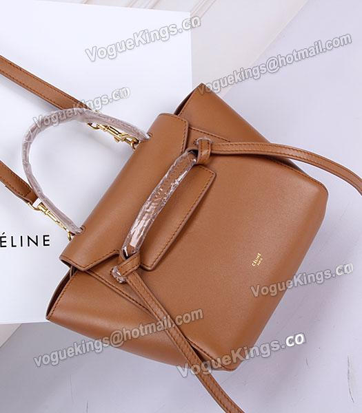 Celine Belt Small Tote Bag Light Coffee Leather-6
