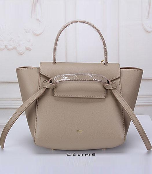 Celine Belt Apricot Leather Small Palmprint Tote Bag