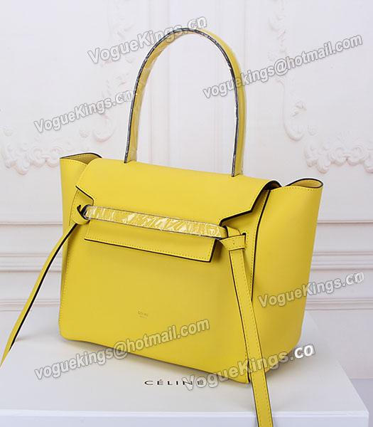 Celine Belt Yellow Leather High-quality Tote Bag_1