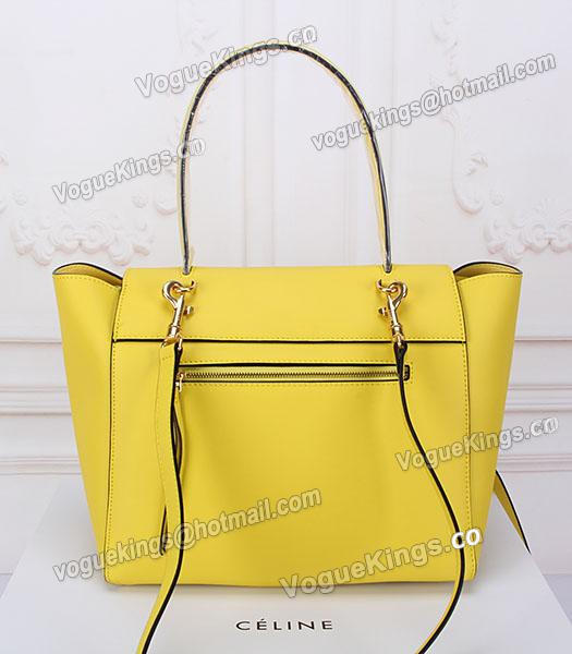 Celine Belt Yellow Leather High-quality Tote Bag-3
