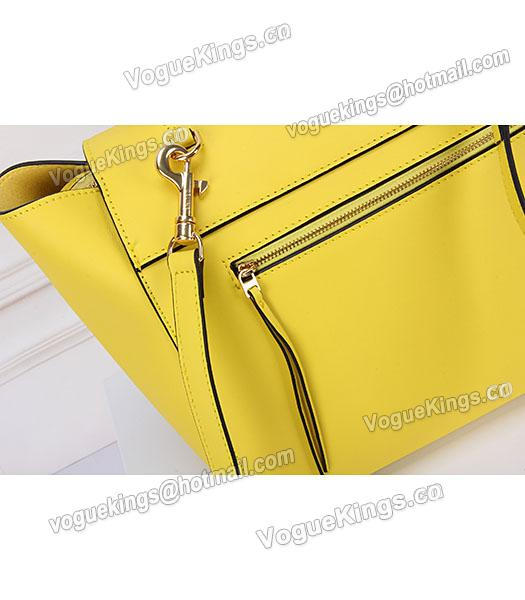 Celine Belt Yellow Leather High-quality Tote Bag-5