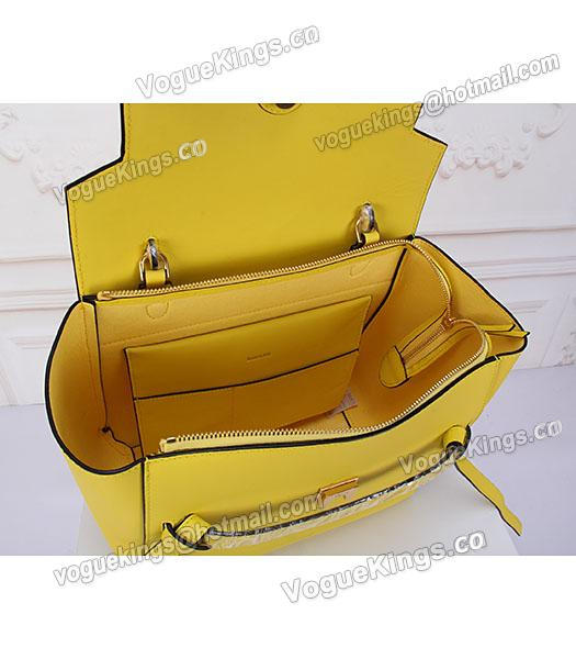Celine Belt Yellow Leather High-quality Tote Bag-7