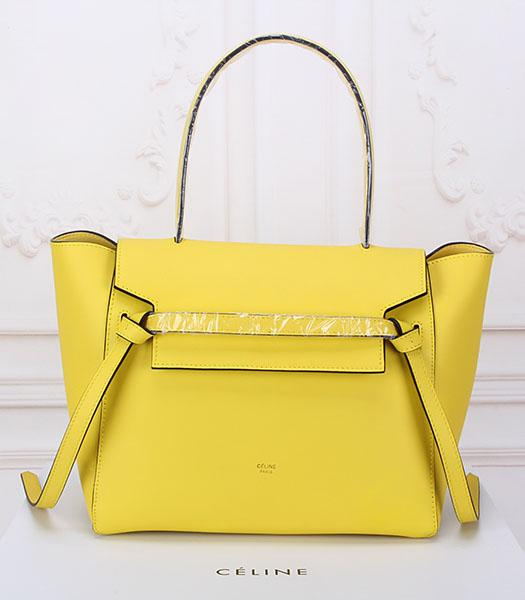 Celine Belt Yellow Leather High-quality Tote Bag
