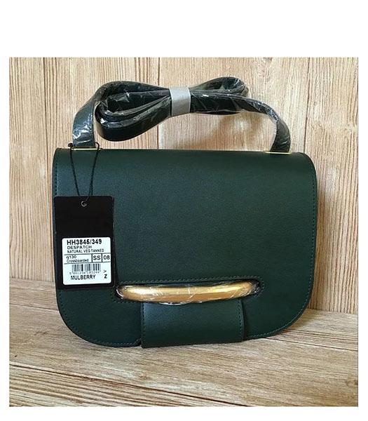 Mulberry Latest Style Dark Green Leather Crossbody Bag