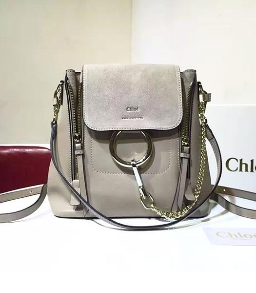 Chloe Latest Grey Suede Leather 23cm Small Backpack