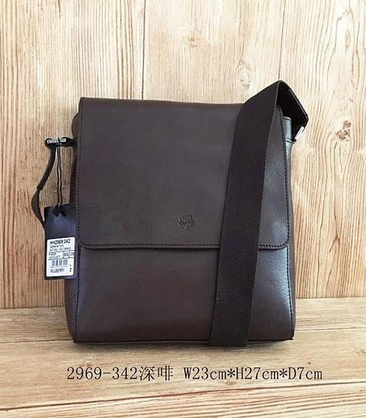 Mulberry New Design Dark Coffee Leather 23cm Messenger Bag
