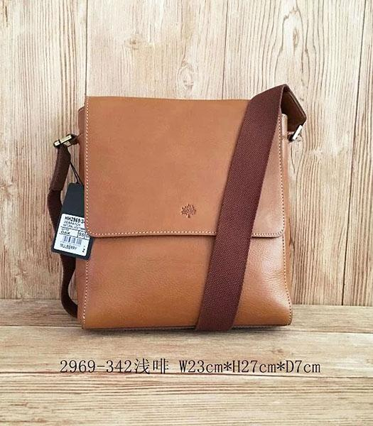 Mulberry New Design Light Coffee Leather 23cm Messenger Bag