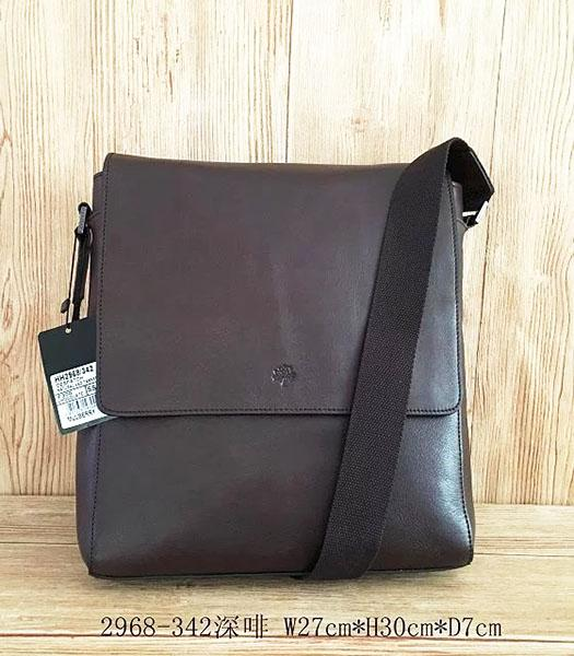 Mulberry New Design Dark Coffee Leather 27cm Messenger Bag