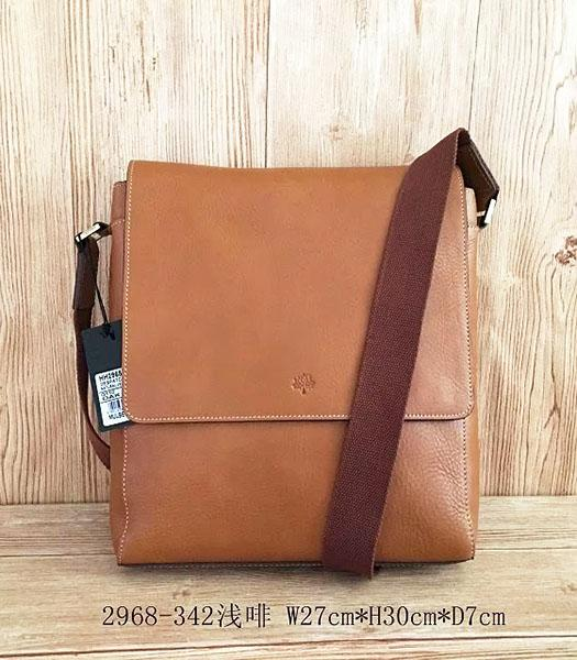 Mulberry New Design Light Coffee Leather 27cm Messenger Bag