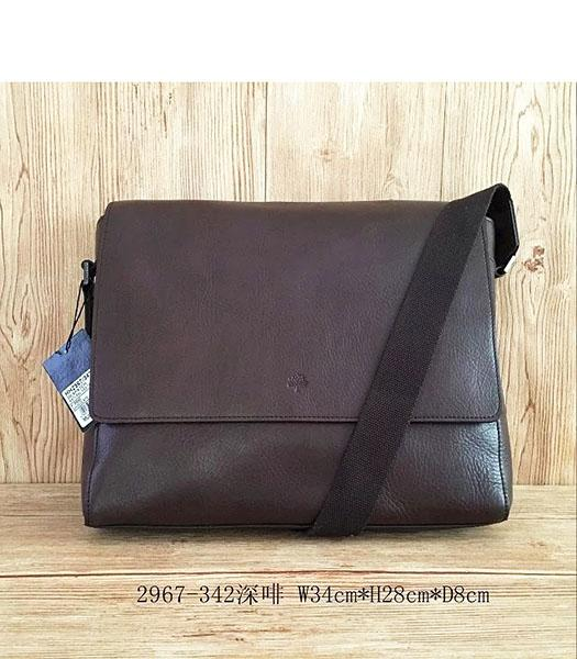 Mulberry New Design Dark Coffee Leather 34cm Messenger Bag