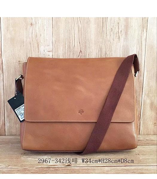 Mulberry New Design Light Coffee Leather 34cm Messenger Bag