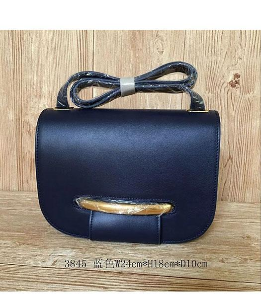 Mulberry Latest Style Dark Blue Leather Crossbody Bag